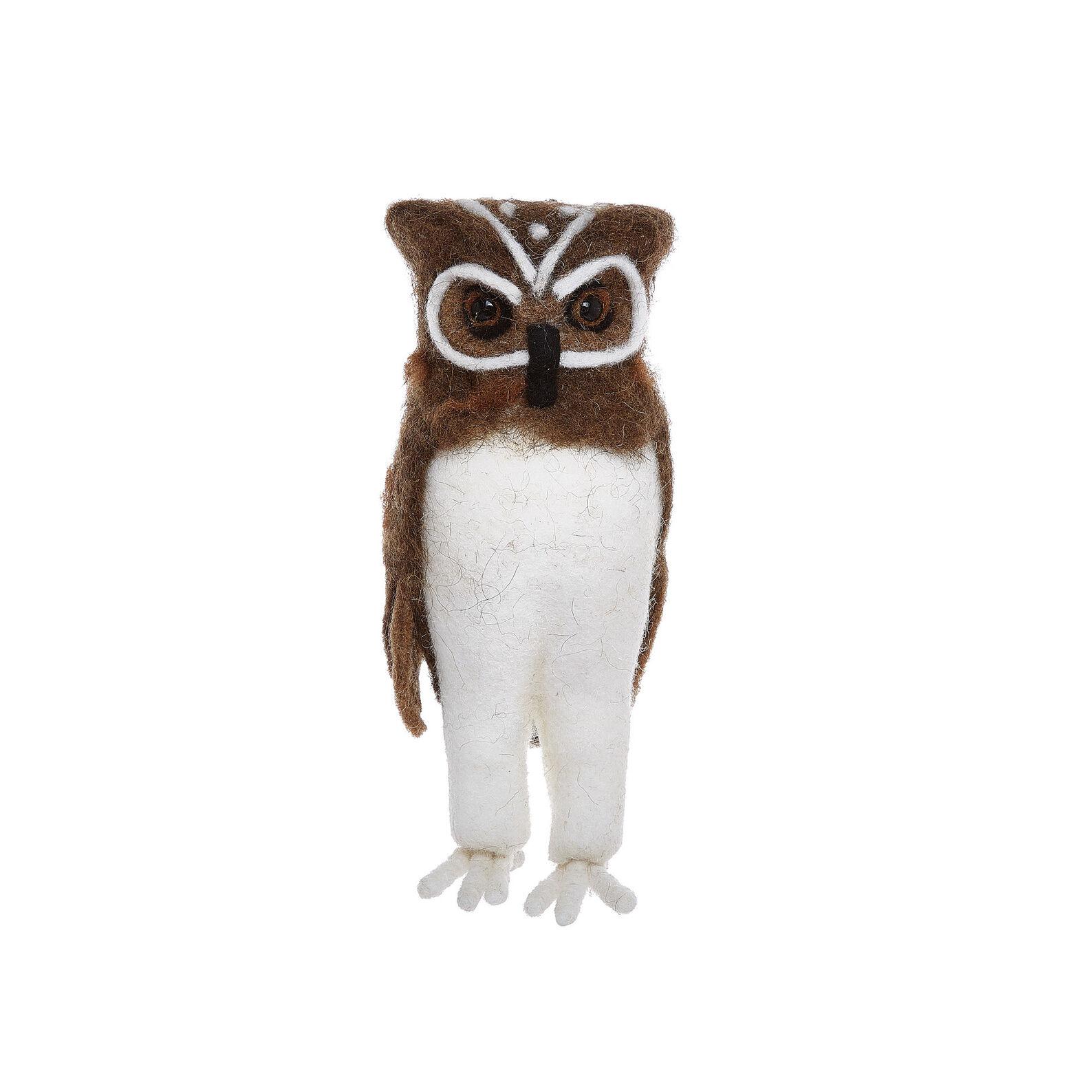 Owl soft toy in felt