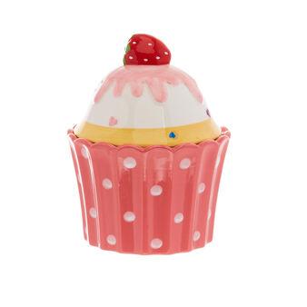 Cupcake-shaped ceramic jar