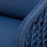 Mediterranean armchair in polyester and aluminium