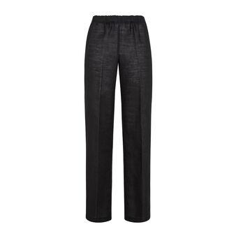 Pantalone misto lino con elastico Koan