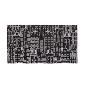 100% cotton kitchen mat with city print