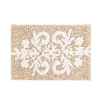 100% tufted cotton damask bath mat