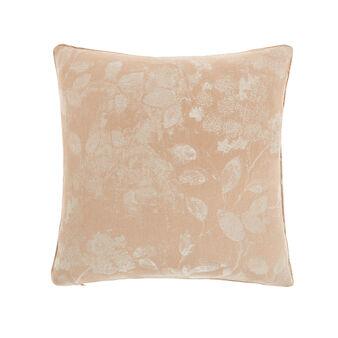 Jacquard leaf cushion 48x48cm