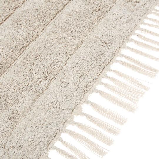100% cotton bath mat with fringes