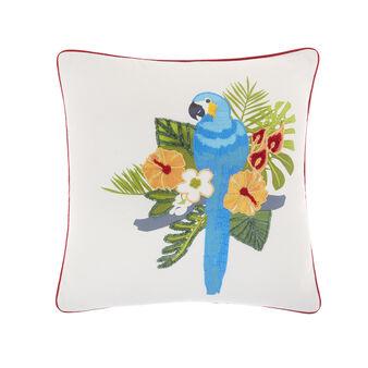 Cuscino decoro pappagallo 45x45cm