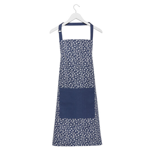 Kitchen apron in 100% cotton with small flowers print