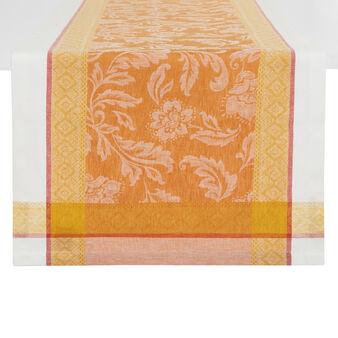 Runner lino e cotone motivo ornamentale