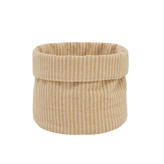 100% cotton basket with stripes