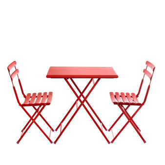 Arc en Ciel table and 2 folding chairs set
