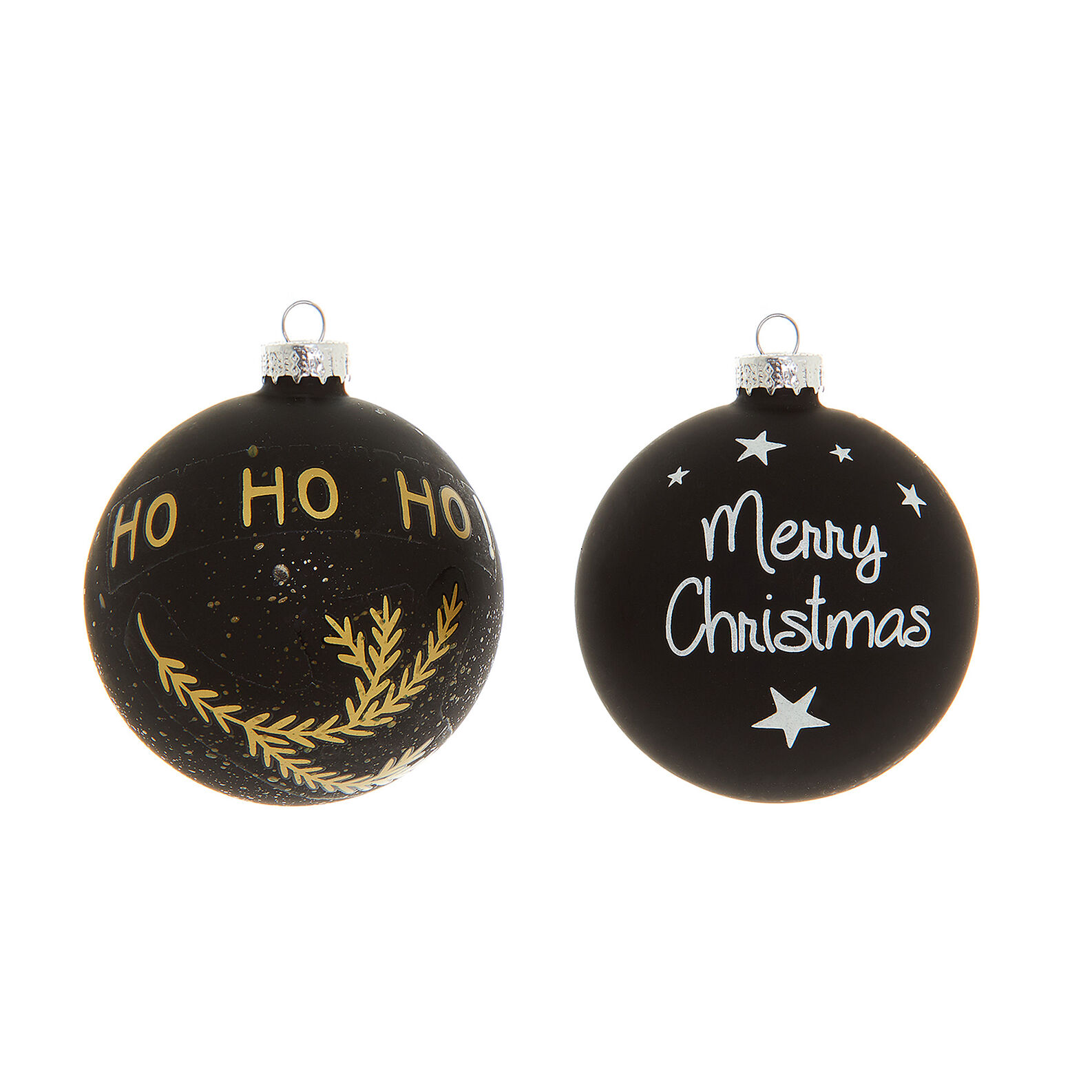 Glass bauble with Christmas lettering