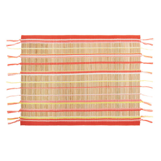 Cotton and bamboo fibre table mat