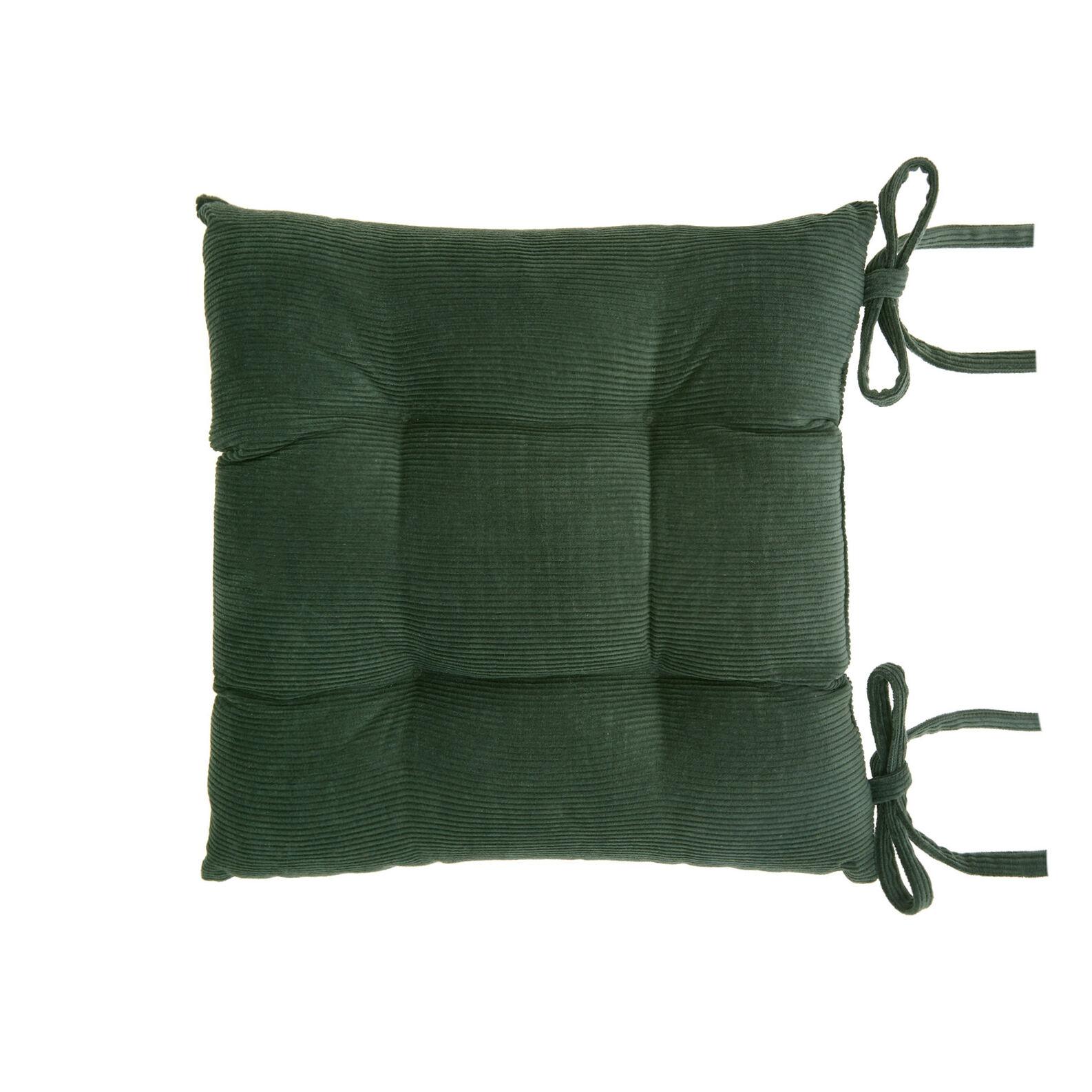 Solid colour cotton corduroy seat pad