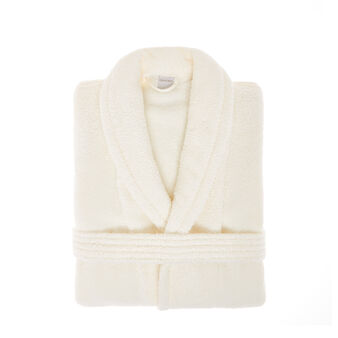 Bathrobe in 100% cotton with jacquard design