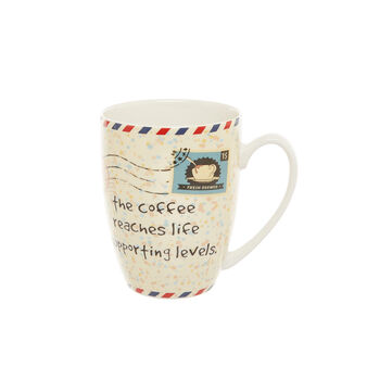 Mug in New Bone China with stamp decoration