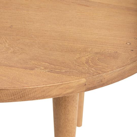 Tavolino rotondo in teak riciclato T-Round