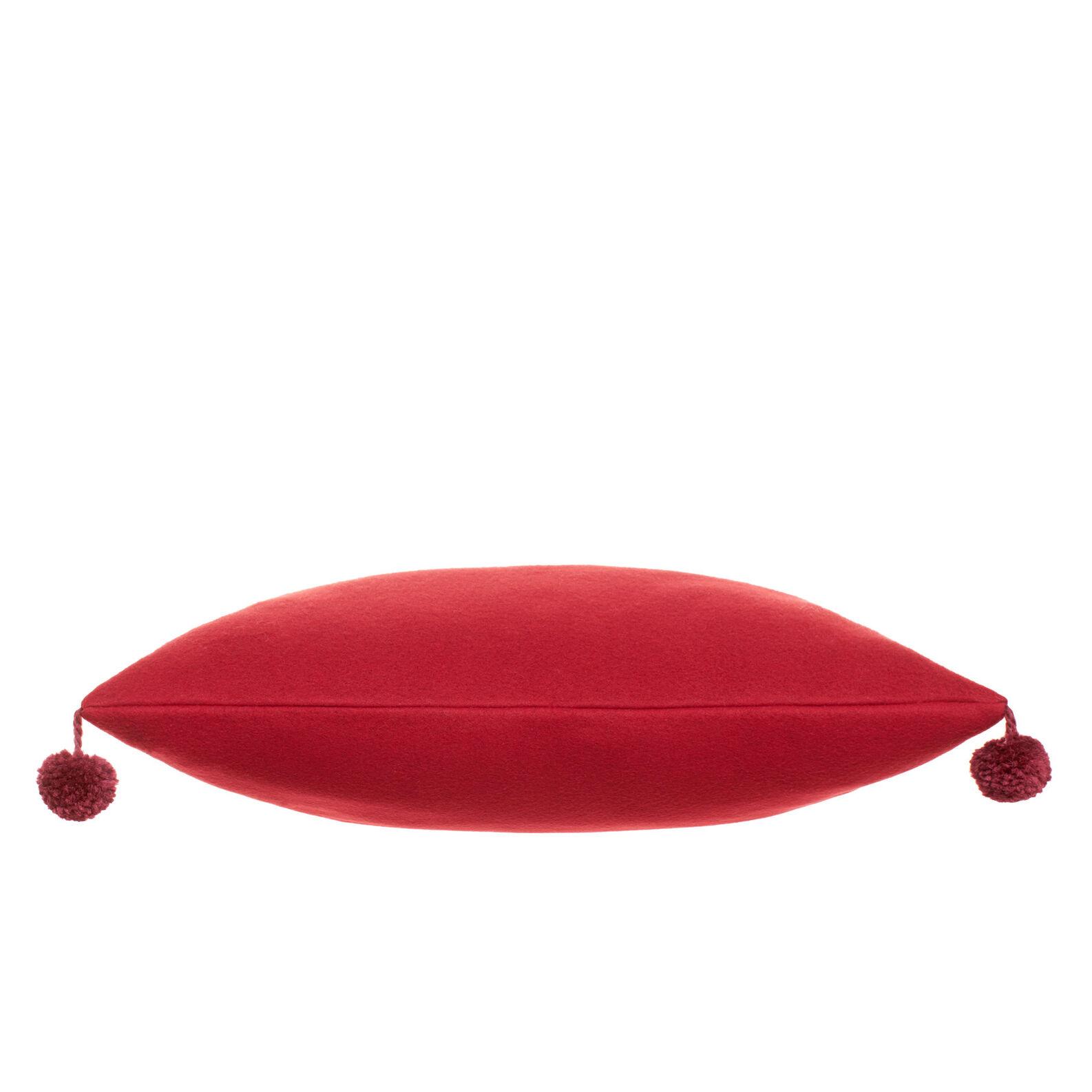 Cuscino in pile con pompon