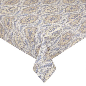 100% cotton tablecloth with soft paisley print