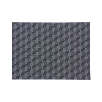 PVC table mat with cube motif