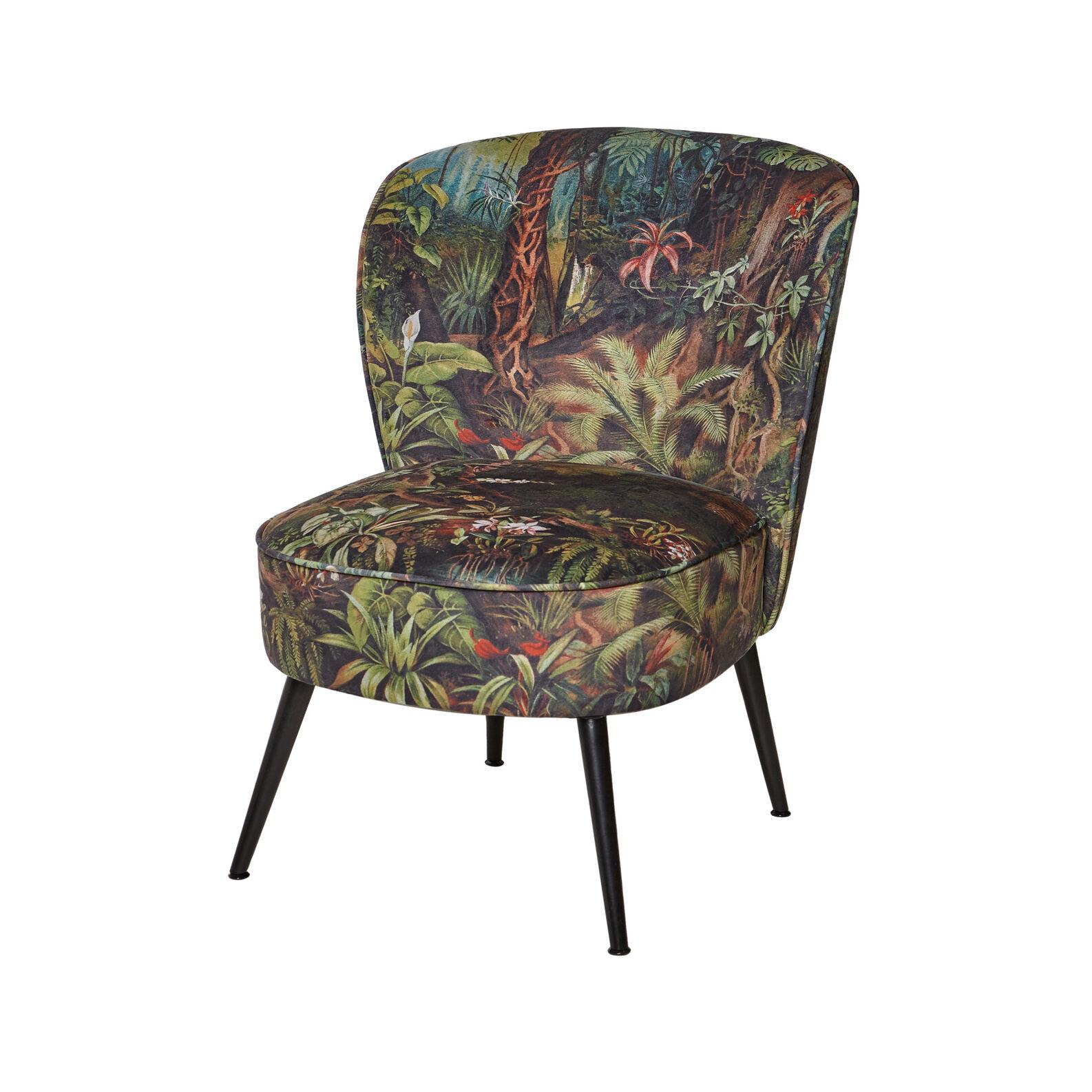 Floury velvet armchair