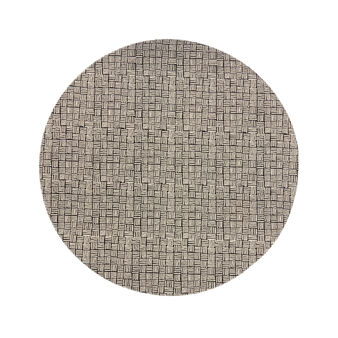Round table mat in 100% cotton with dots print