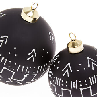 Hand-decorated tribal bauble