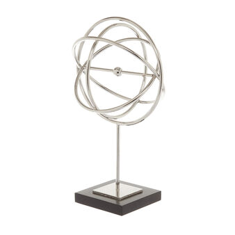 Glossy iron globe on stand