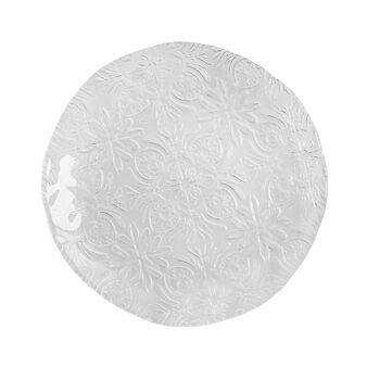 Decorated glass side plate
