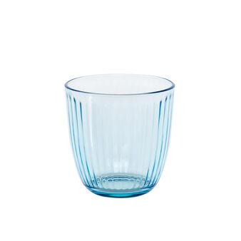 Light blue drinking glass