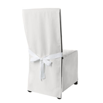 Set of 2 solid color cotton chair covers