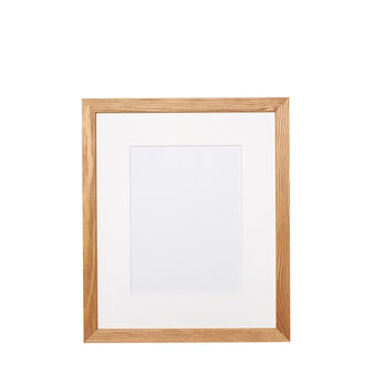 Oak photo frame with picture mount