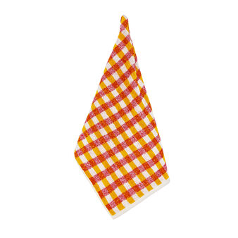 100% cotton terry check tea cloth