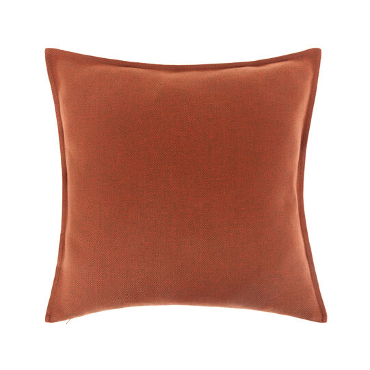 Cushion cover with solid colour herringbone weave (50x50cm)