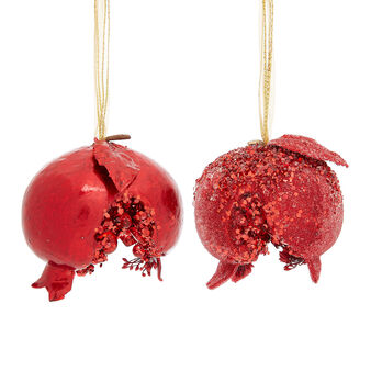 Hand-decorated jewelled pomegranate