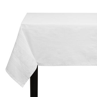Stonewashed 100% cotton tablecloth with embroidery