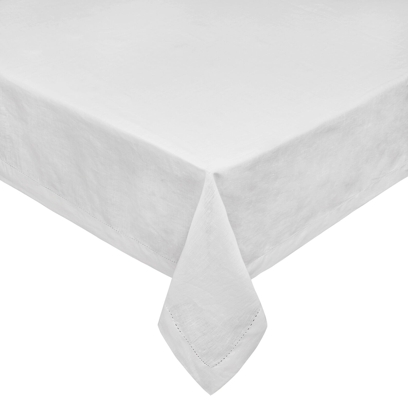 100% linen table cloth with whitework embroidery