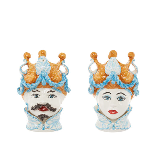 Arabesque Moorish Head by Ceramiche Siciliane Ruggeri
