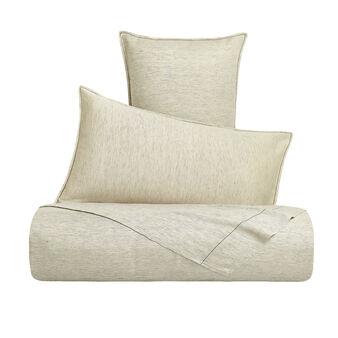 Yarn-dyed linen blend flat sheet