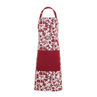 100% cotton bib apron with floral print