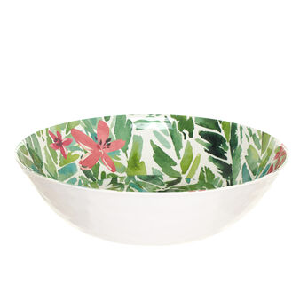 Melamine salad bowl with leaves