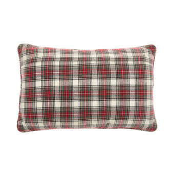 Tartan cotton cushion 35x55cm