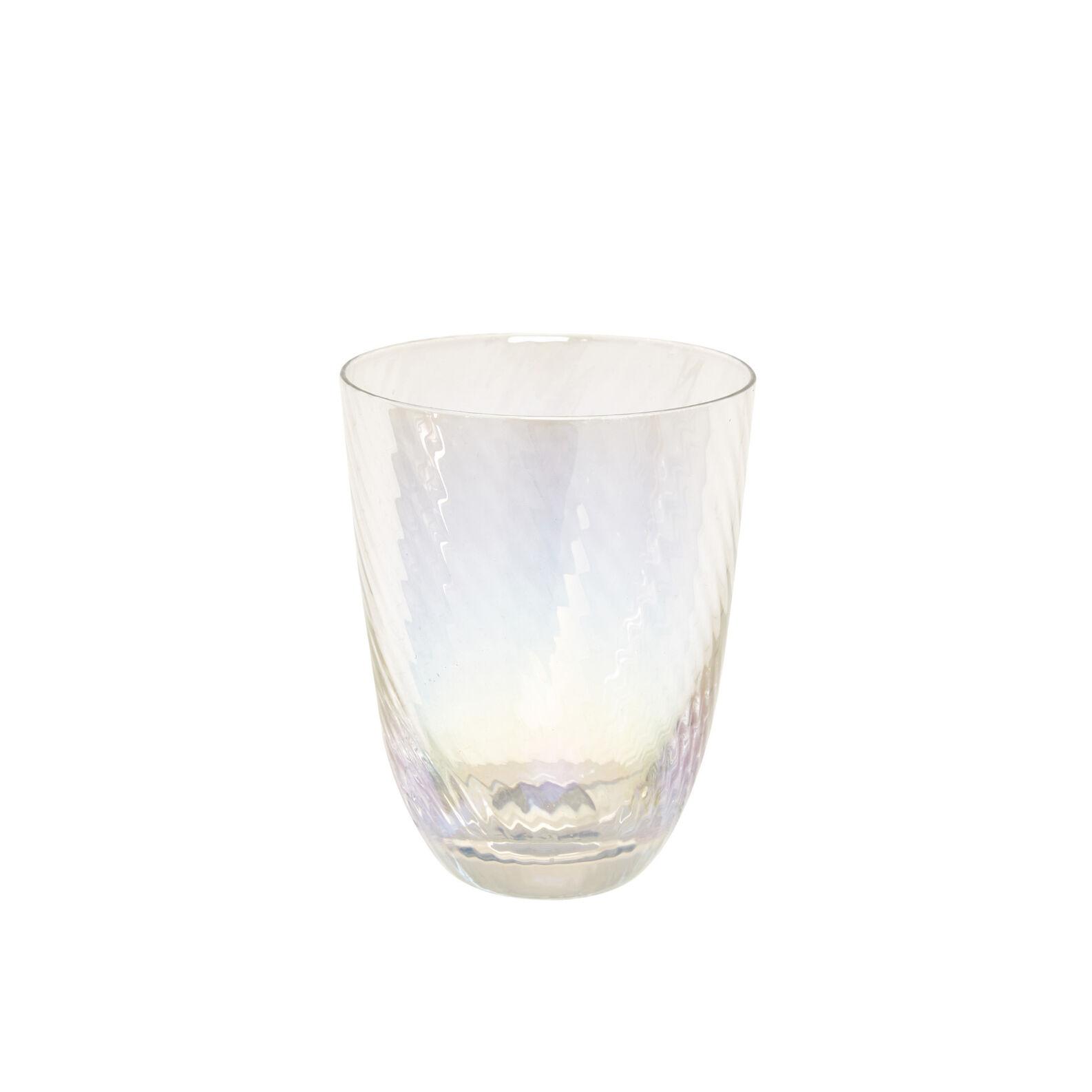 Spirals-effect glass tumbler