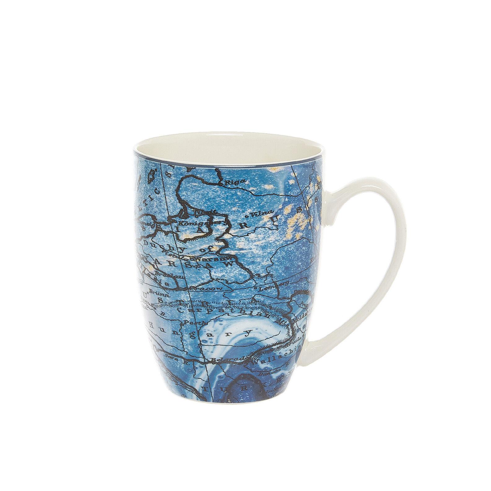 Mug new bone china decoro mondo
