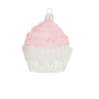 Hand-decorated cupcake decoration