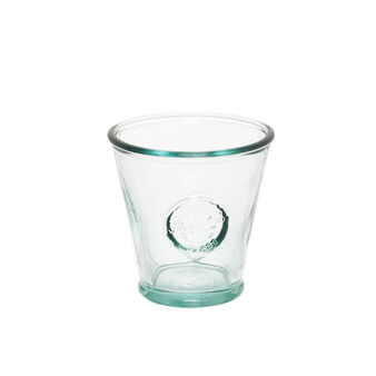Recycled glass water tumbler