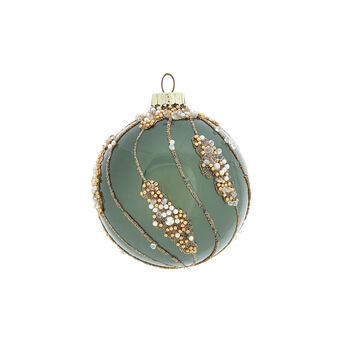 Hand-decorated twisted bauble