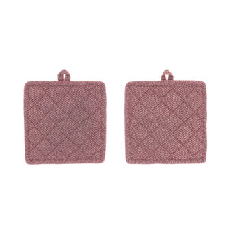 2-pack pot holders in 100% cotton with zig-zag pattern