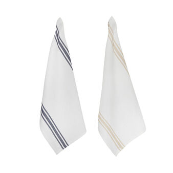 2-pack tea towels in linen and cotton blend