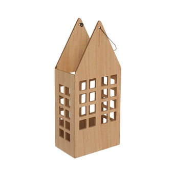 Lanterna casetta in legno di balsa