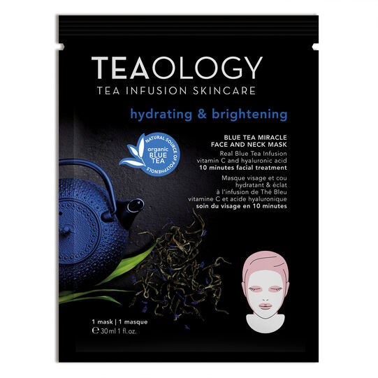 Blue Tea Miracle Face and Neck Mask Hydrating & Brightening 30 ml