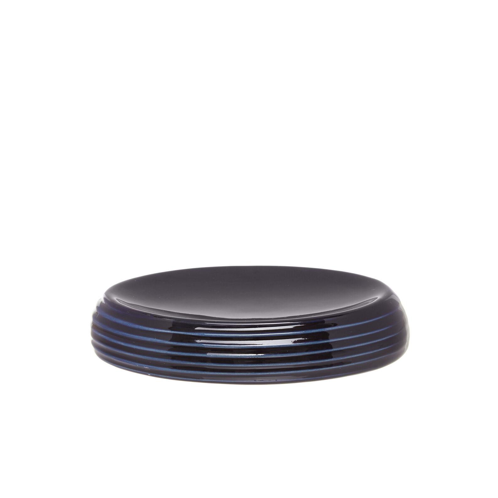 Milled-effect ceramic soap dish.